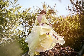 Šaty - Ivory šifónové šaty,,Bonjour broderie,, - 6909000_