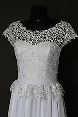 Šaty - Svadobné šaty v ľudovom štýle z kvietkovanej hrubej krajky - 6907495_