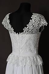 Šaty - Svadobné šaty v ľudovom štýle z kvietkovanej hrubej krajky - 6907496_