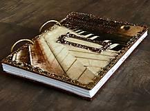 Hudobný zápisník,denník,diár,alebo svadobná kniha hostí-Klavír a noty