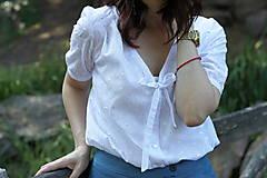 Košele - Biela košeľa z madeiry - 6907576_