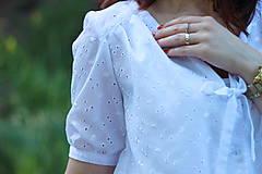 Košele - Biela košeľa z madeiry - 6907577_