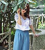 Košele - Biela košeľa z madeiry - 6907578_