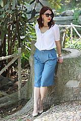 Košele - Biela košeľa z madeiry - 6907579_