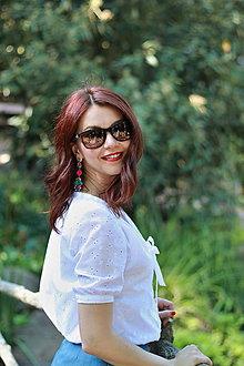 Košele - Biela košeľa z madeiry - 6907580_