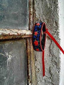 Náramky - Vyšívaný  folk náramok 3 - 6906704_