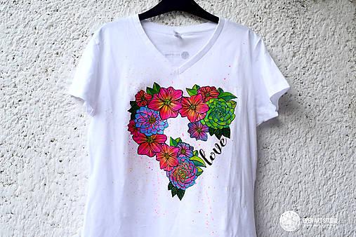 Vymaľuj ma! Kreatívne tričko FLOWER POWER