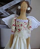 Bábiky - Béžová s ružičkami - 6909335_