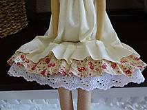Bábiky - Béžová s ružičkami - 6909337_