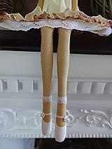 Bábiky - Béžová s ružičkami - 6909338_