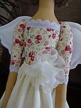 Bábiky - Béžová s ružičkami - 6909339_