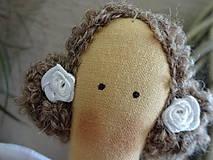 Bábiky - Béžová s ružičkami - 6909340_