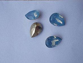 Komponenty - živicový kamienok svetlo modrý slza - 6910104_