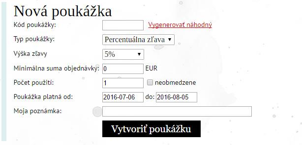 f8883fdd0 Napríklad, kód môžete zverejniť vo svojom obchode a dať kupujúcim na  známosť, že všetky objednávky nad 50 EUR ...