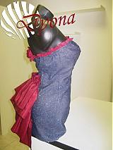 Šaty - Riflové extravagantné koktejlky - 1001971