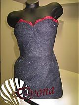 Šaty - Riflové extravagantné koktejlky - 1001972
