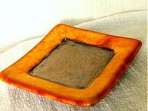 Svietidlá a sviečky - svietnik oranžový - 1003867