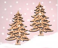 Dekorácie - stromček vyrezávaný - 1005930