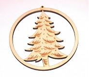 Dekorácie - guľa so stromčekom - 1005933