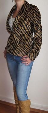 Kabáty - Sako s tigrým vzorom - 1013216