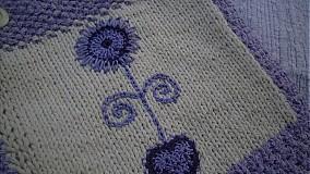 Veľké tašky - Taška-fialová kvetinka - 1017660
