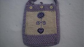 Veľké tašky - Taška-fialová kvetinka - 1017672