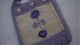 Veľké tašky - Taška-fialová kvetinka - 1017673