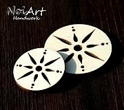 Materiál ručne robený - Základ kruh s ornamentom 4 cm - 1023687