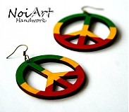 Náušnice - Peace farebné - 1023779