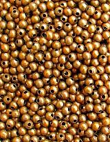 Korálky - medené kov 3 mm/ 10 g - 1025936