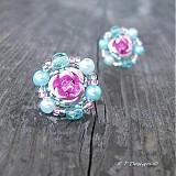 Náušnice - Náušničky Pastel Rose... - 1028469