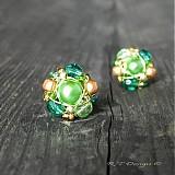 Náušnice - Náušničky Gold Pistachio... - 1030764