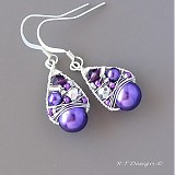 Náušnice - Náušnice Purple pralines... - 1032520