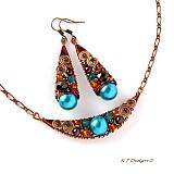 Náušnice - Náušnice Turquoise spiral... - 1034961
