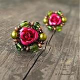 Náušnice - Náušničky Zahrada růží... - 1038166