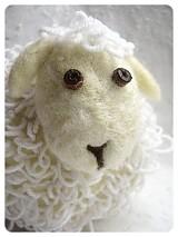 Dekorácie - Biela ovečka - 104000