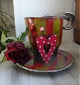 Dekorácie - ...valentíska kávička...srdiečko - 1064097