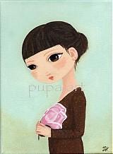 Obrazy - Dievčatko s magnóliou - 106508