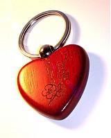 Kľúčenky - Prívesok v tvare srdiečka s menom - tmavé - 1074410