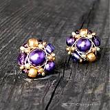 Náušnice - Náušničky Violet Orient... - 1075573