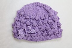 Čiapky - fialová baretka - 1086904