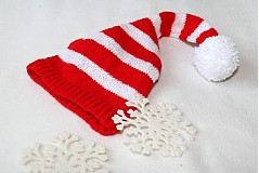 Čiapky - červeno-biela pásikavá - 1087009
