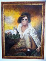 Obrazy - Chlapec so zajacom - 1092650