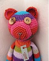 Hračky - Háčkovaný medvedík - 1093174