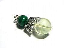 Náhrdelníky - Zelený anjelik pre šťastie - 1104845