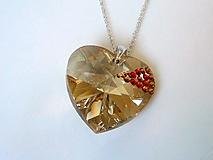 Náhrdelníky - Swarovski srdce 4 cm - 1106256