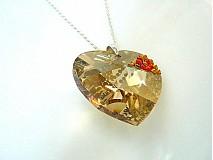 Náhrdelníky - Swarovski srdce 4 cm - 1106258