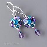 Náušnice - Náušničky Turquoise violets... - 1107442