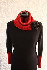 Šaty - Červeno- čierne šaty - 1116822