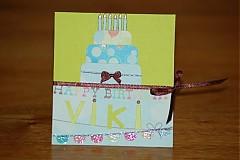 Papiernictvo - Blahoželanie k narodeninám -  Torta - 1117687